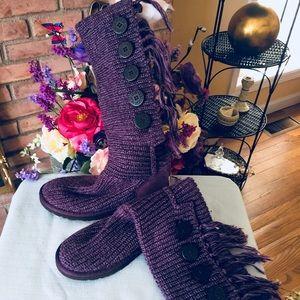 Ugg Australia purple knit boot size 8
